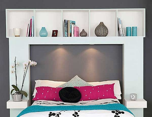 storage headboard the homesource. Black Bedroom Furniture Sets. Home Design Ideas