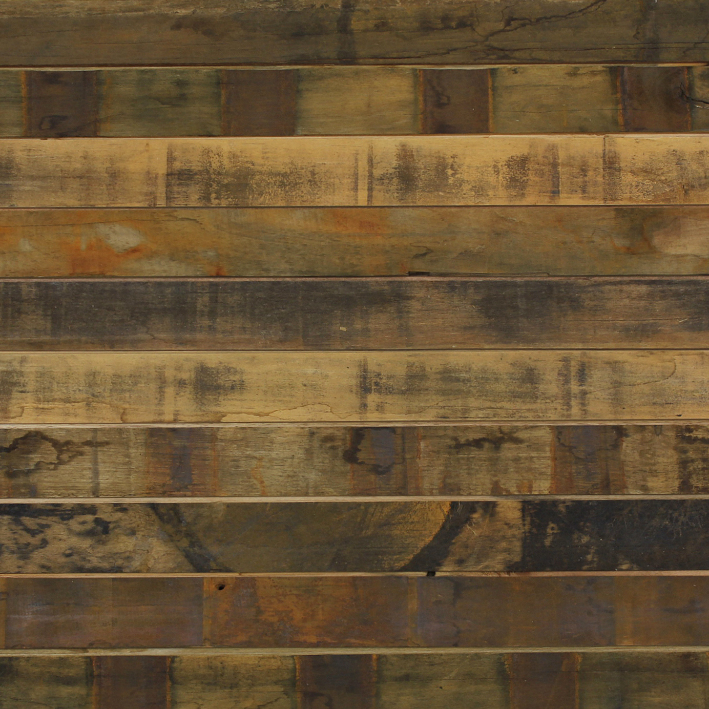 An abundance of good with reclaimed pine and oak for Hardwood floor panels