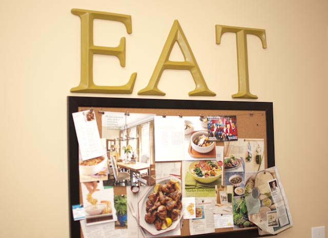 6 eccentric ideas for your kitchen for Hobby lobby bulletin board letters