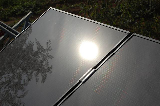 Solar-powered air conditioning