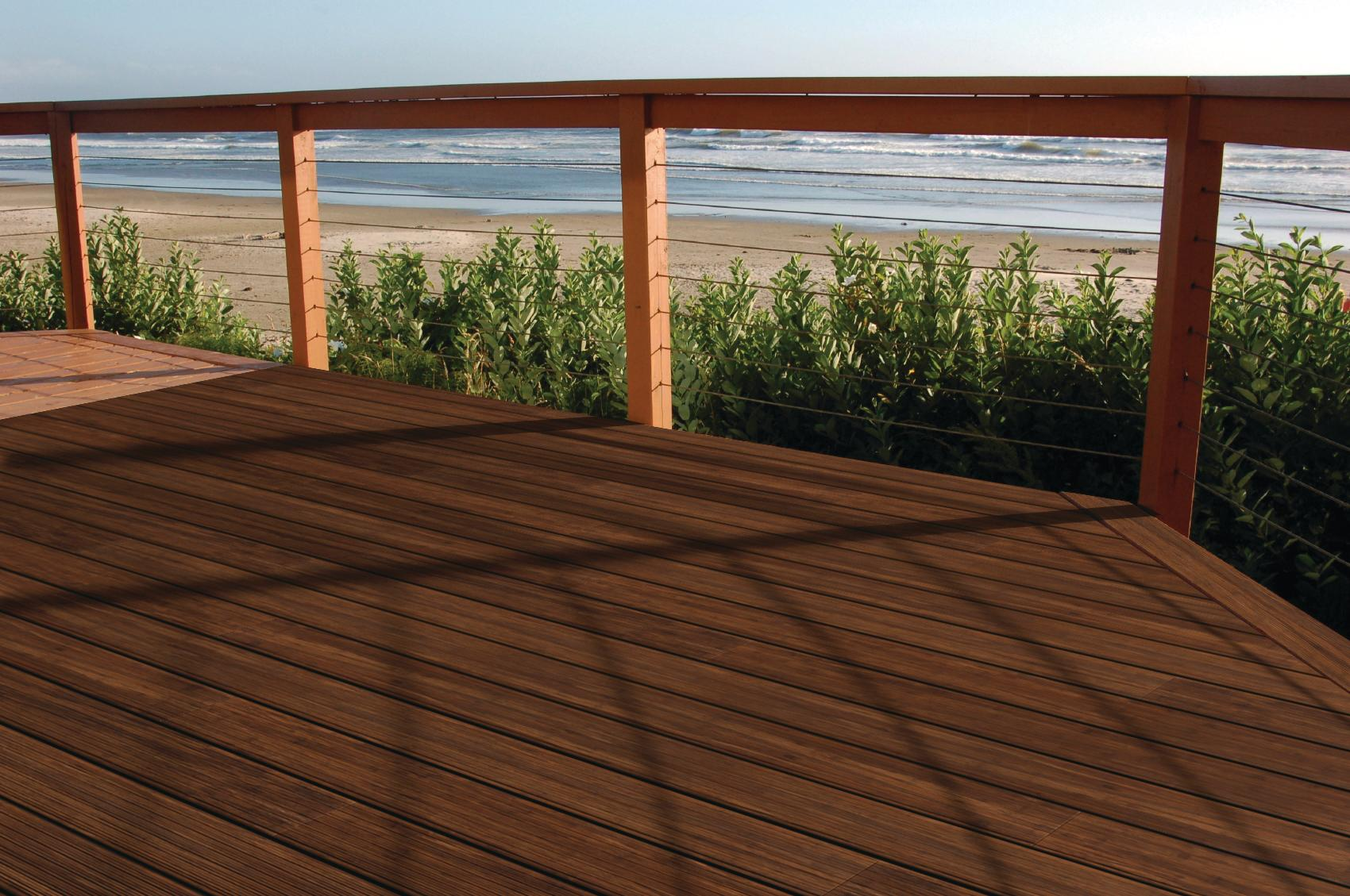 Sustainably simple building a deck with bamboo flooring for Bamboo flooring outdoor decking
