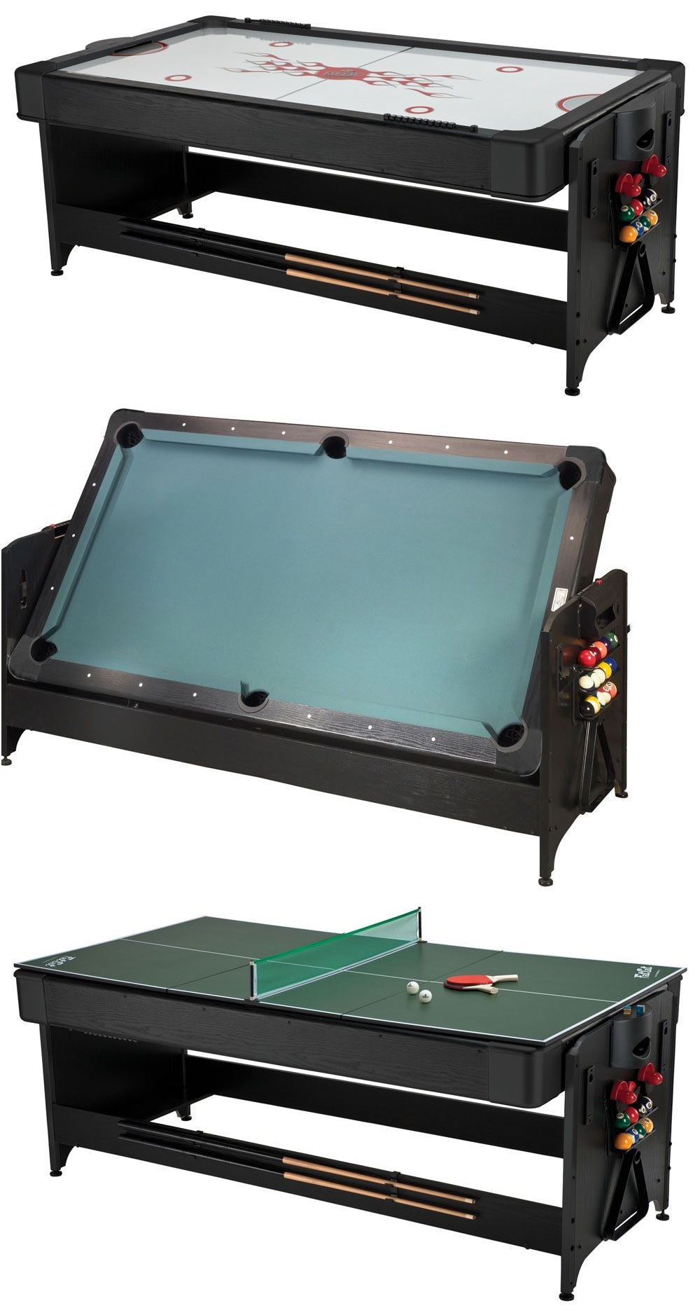 The Pockey 3 In 1 Game Table Is An Air Hockey, Table Tennis, And Billiards  Table All In One. Image Courtesy Game Tables Online.com