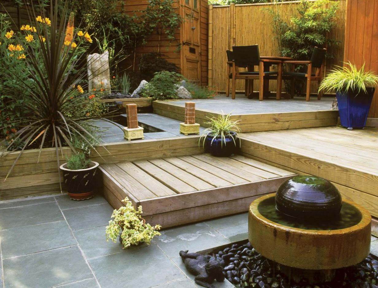 Small space big ideas landscaping in a small backyard for Back patio design ideas