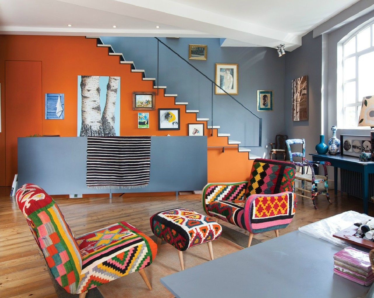 What Color Curtains Go With Orange Walls